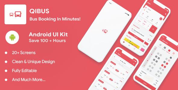 Free Bus Booking Android Kotlin App UI Template | QIBus | Iqonic Design