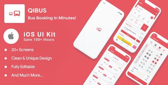 Free Bus booking iOS Swift 4 UI template | QIBus | Iqonic Design