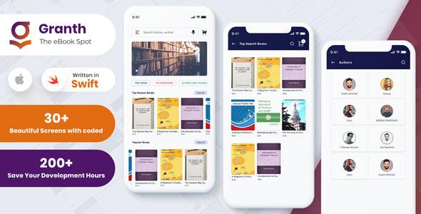iOS Ebook App Swift 4 + Admin Panel | Iqonic Design