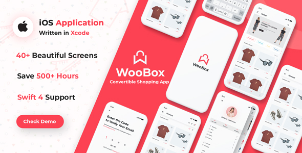 WooCommerce iOS App E-commerce Full Mobile App + Swift 4 | Iqonic Design