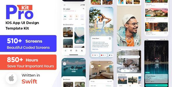 iOS App UI Kit with SoftUI | Iqonic Design