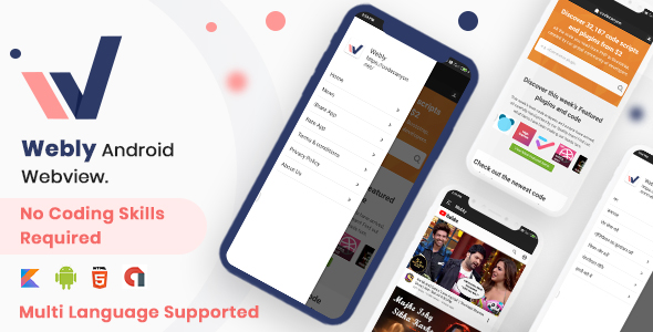 Webview Convert Website into Native Android App | Iqonic Design