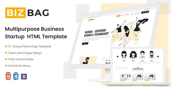 Free Startup Business HTML5 Template | BizBag | Iqonic Design