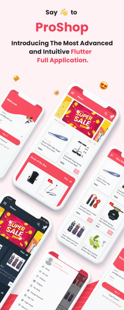 Flutter E-commerce Full App for Woocommerce | ProShop Dokan Multi Vendor | Iqonic Design  Online Retailers Guide To Shopping Cart UI (Must-have elements and examples) image 2 410x1024