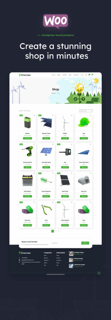 Enerzee - Renewable Energy WordPress Theme  How To Transform Your WordPress Into Straight-out eCommerce Store image 5 356x1024