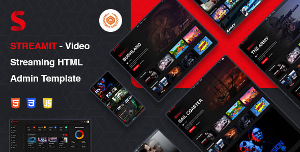 5 Best-Selling Music & Live Streaming Admin Templates 2020  5 Best-Selling Music & Live Streaming Admin Templates 2020 streamit