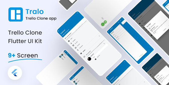 Free Trello Clone Flutter UI Kit | Tralo | Iqonic Design