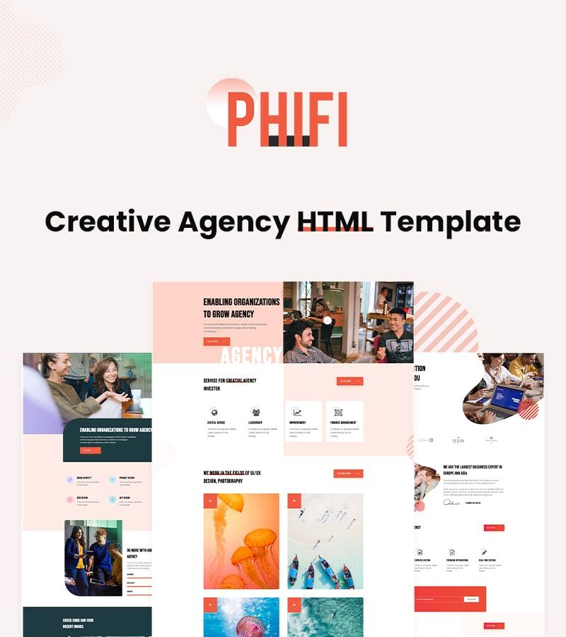 Phifi - Creative Agency HTML Template Free creative agency html template free Phifi 01 min