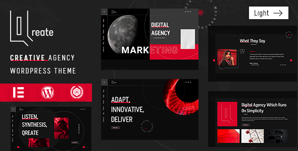 Creative Agency WordPress Theme | Qreate | Iqonic Design