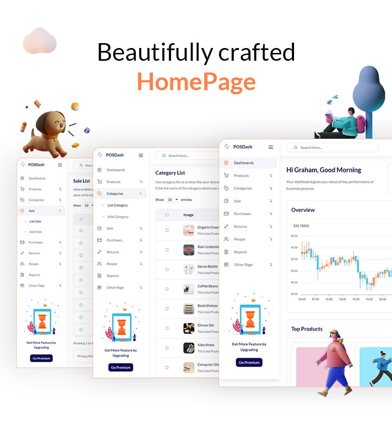 free vuejs html template for inventory system free vuejs html inventory admin template POSDash Lite 02 min 1