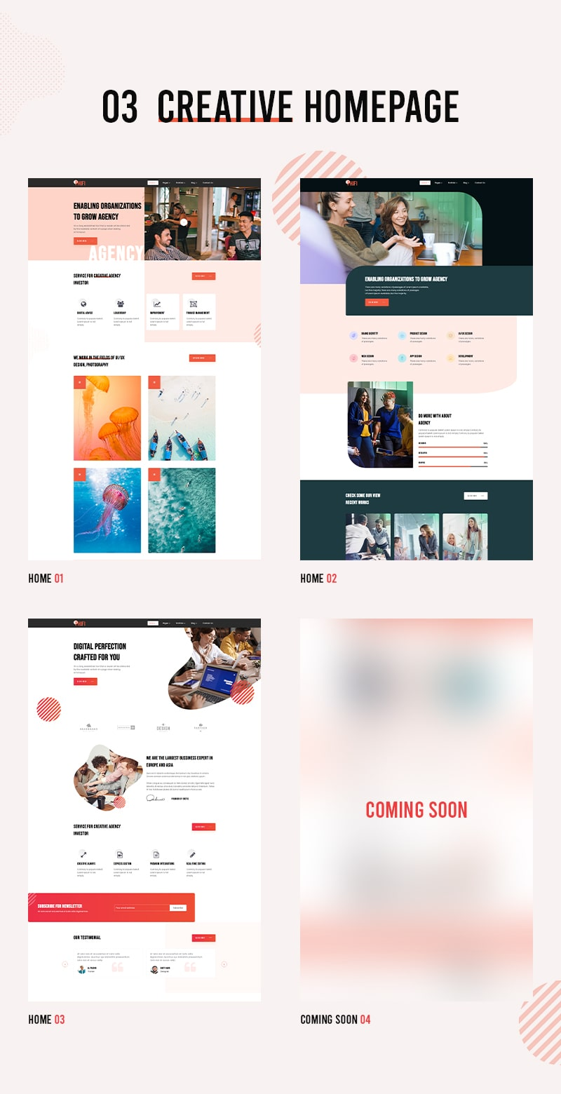 Phifi - creative agency bootstrap template Free creative agency html template free Phifi 02 min