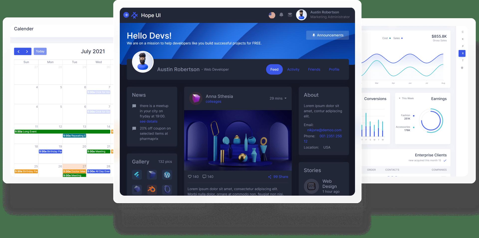 image  Hope UI – Clean Design System & Dashboard Frame 36393 min