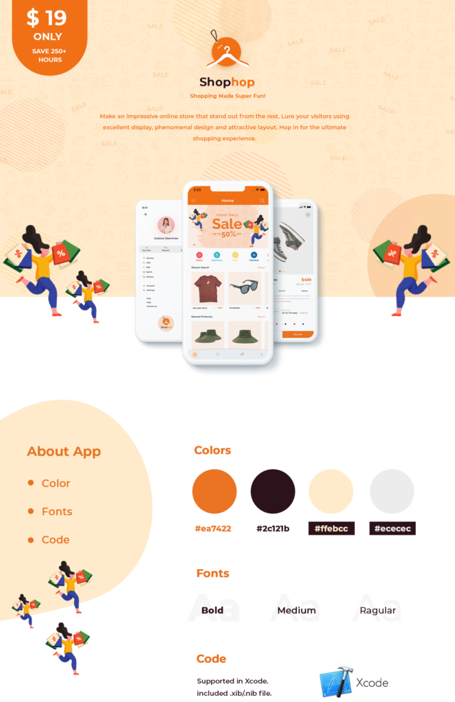 Free eCommerce App UI Templates Swift 4 | Shophop iOS UI | Iqonic Design  Online Retailers Guide To Shopping Cart UI (Must-have elements and examples) Shophop iOS     eCommerce App UI Templates Swift 4 664x1024