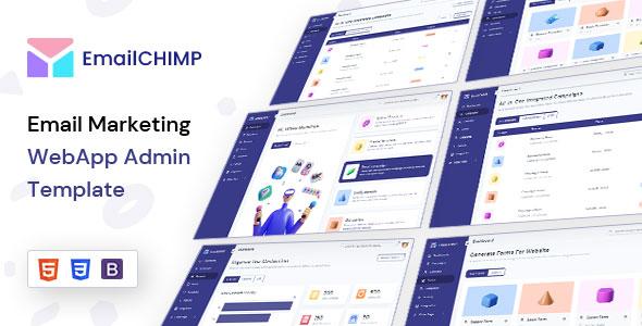 Free Email Marketing WebApp Admin Template | EmailChimp Lite | Iqonic Design