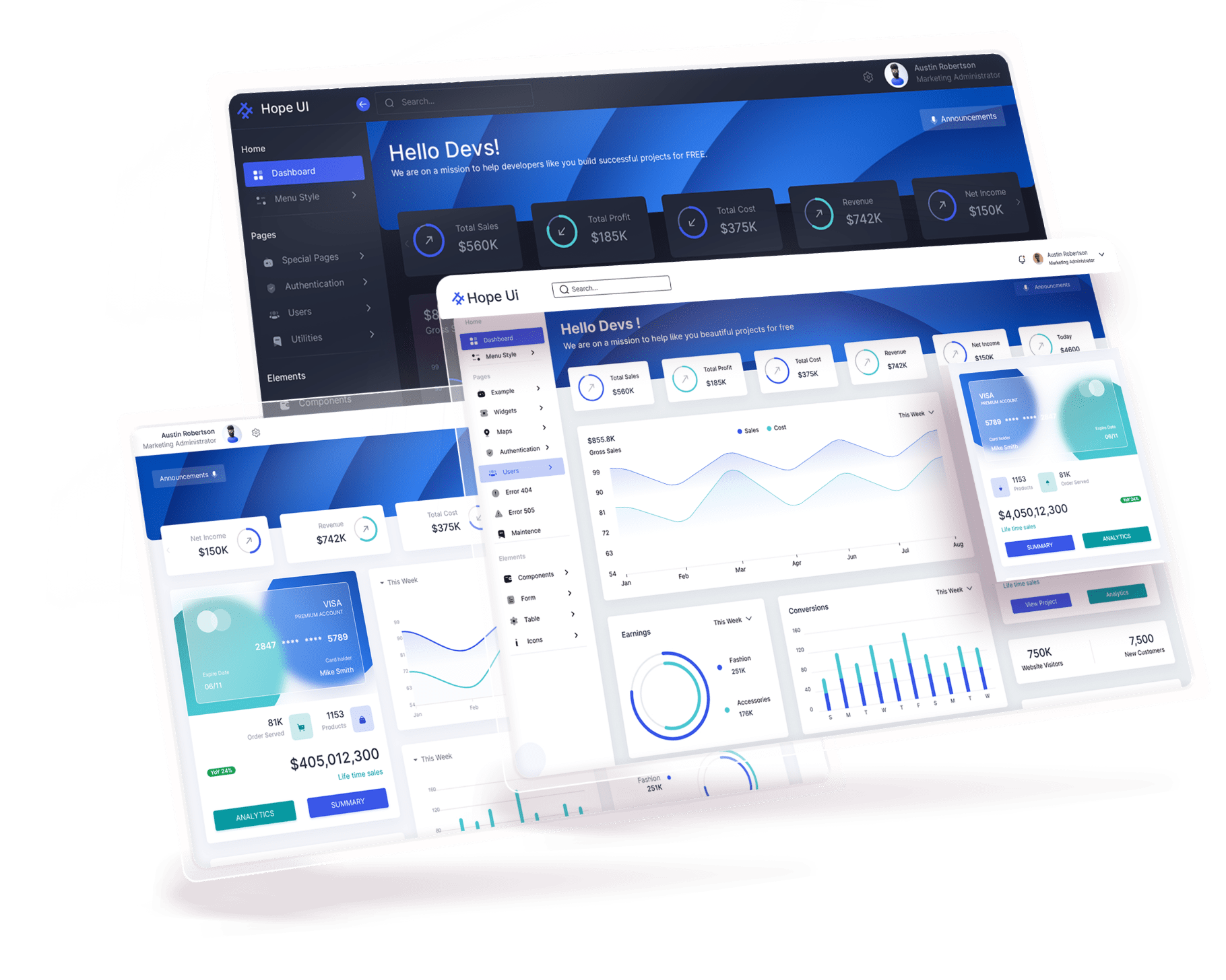 image  Hope UI – Clean Design System & Dashboard rtl mode min