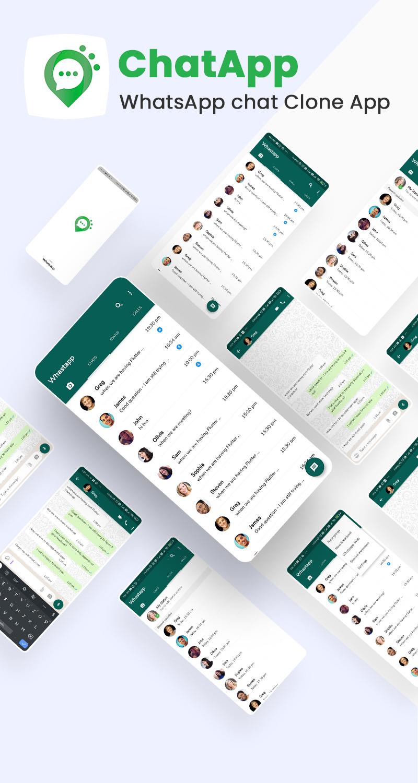 free whatsapp ui clone flutter Whatschat whatsapp