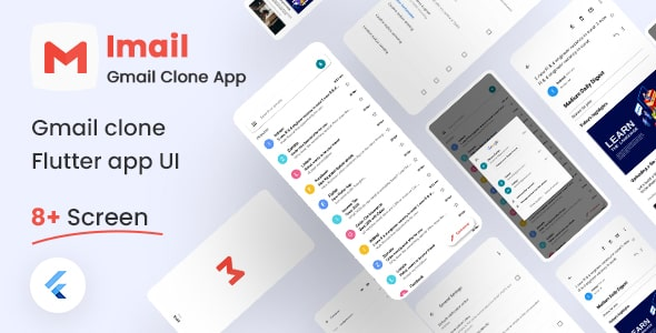 Free Gmail Clone Flutter UI Kit | iMail | Iqonic Design