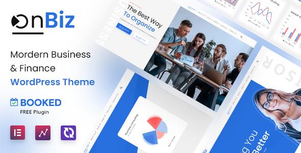 Consulting Business and Finance WordPress Theme | Onbiz | Iqonic Design