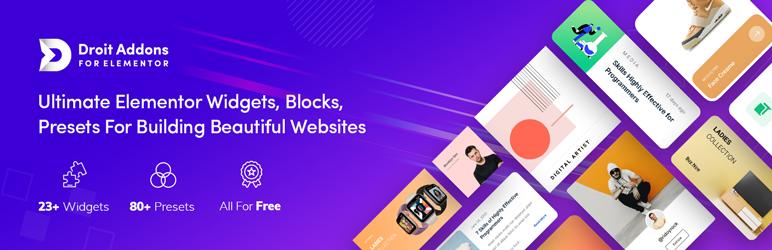 Droit Addons  18+ Best Free Elementor Addons for WordPress Compared Elementor Addon Elements1