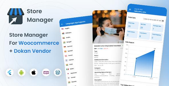 Woocommerce Admin and Dokan vendor app | Store Manager | Iqonic Design