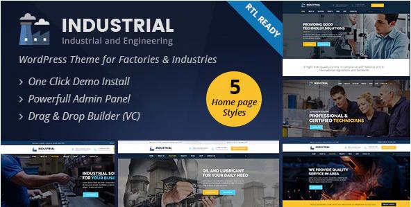 Industrial  10+ Best Industry Engineering Factory WordPress Themes to Design Your Perfect Website Screenshot 1 2