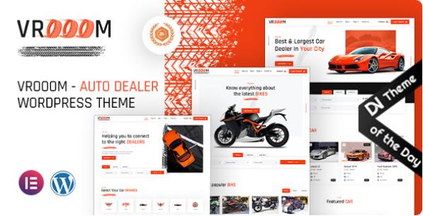 Auto Dealer WordPress Theme | Vrooom | Iqonic Design  12 Best Auto Dealer WordPress Themes For Vehicle Dealership & Service Owners Screenshot 1 3