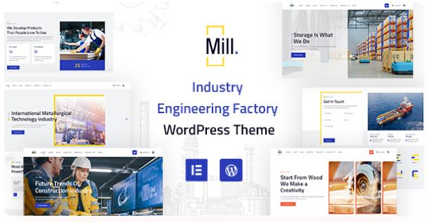 Industry Engineering Factory WordPress Theme | Mill | Iqonic Design  10+ Best Industry Engineering Factory WordPress Themes to Design Your Perfect Website Screenshot 1 Mill