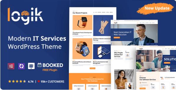 IT Solutions and Technology WordPress Theme   Logik   Iqonic Design  10 Modern Startup Business WordPress Themes For Digital Entrepreneurs Screenshot 1