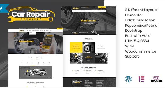 Car Repair  12 Best Auto Dealer WordPress Themes For Vehicle Dealership & Service Owners Screenshot 10 min
