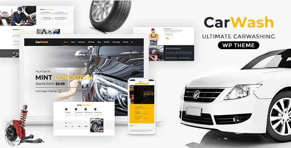 Car Wash  12 Best Auto Dealer WordPress Themes For Vehicle Dealership & Service Owners Screenshot 11 min