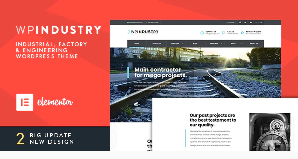 WP Industry  10+ Best Industry Engineering Factory WordPress Themes to Design Your Perfect Website Screenshot 2 1