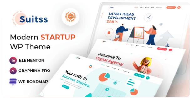 Startup Business WordPress theme   Suitss   Iqonic Design  10 Modern Startup Business WordPress Themes For Digital Entrepreneurs Screenshot 3 1