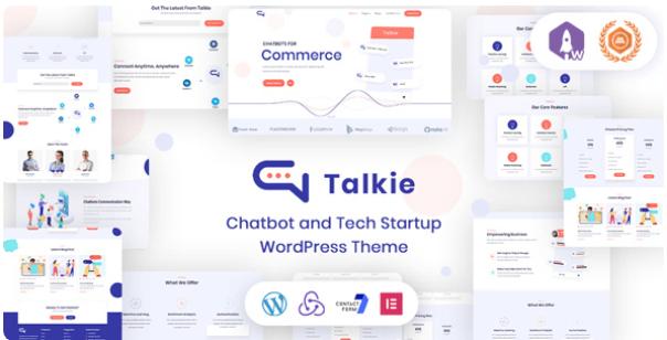Chatbot and Tech Startup WordPress Theme   Talkie   Iqonic Design  10 Modern Startup Business WordPress Themes For Digital Entrepreneurs Screenshot 4 1