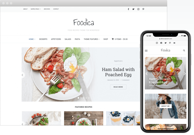 Foodica  10+ Best Grocery and Food Store WordPress Themes For Farm Producers & Traders Screenshot 4 min