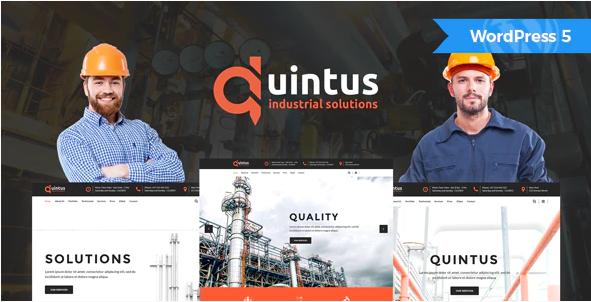 Quintus  10+ Best Industry Engineering Factory WordPress Themes to Design Your Perfect Website Screenshot 5 2