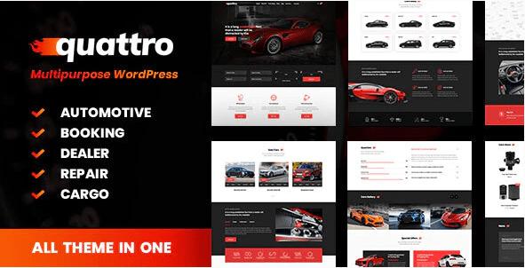 Quattro  12 Best Auto Dealer WordPress Themes For Vehicle Dealership & Service Owners Screenshot 5 min