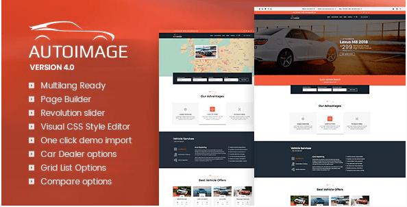 Autoimage  12 Best Auto Dealer WordPress Themes For Vehicle Dealership & Service Owners Screenshot 6 min