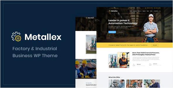Metallex  10+ Best Industry Engineering Factory WordPress Themes to Design Your Perfect Website Screenshot 7 2