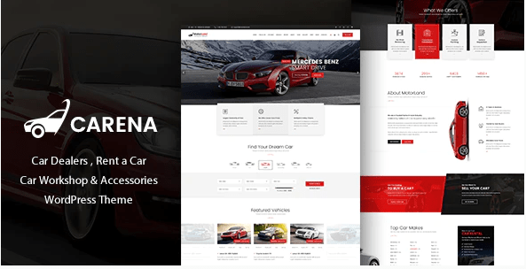 Carena  12 Best Auto Dealer WordPress Themes For Vehicle Dealership & Service Owners Screenshot 7 min