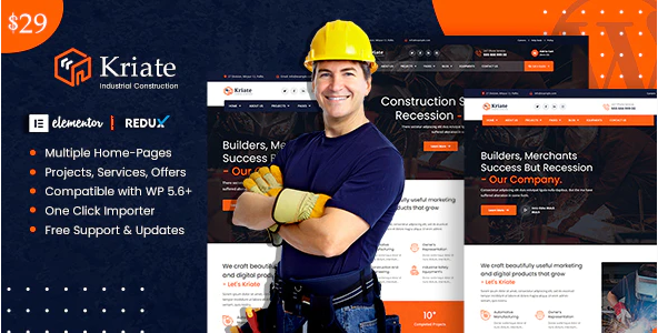 Kriate  10+ Best Industry Engineering Factory WordPress Themes to Design Your Perfect Website Screenshot 8 2