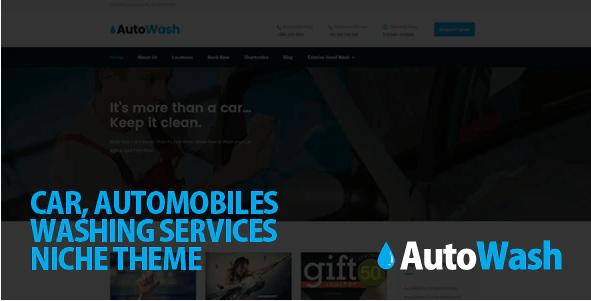 AutoWash  12 Best Auto Dealer WordPress Themes For Vehicle Dealership & Service Owners Screenshot 8 min