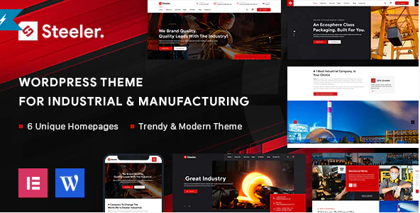 Steeler  10+ Best Industry Engineering Factory WordPress Themes to Design Your Perfect Website Screenshot 9 2