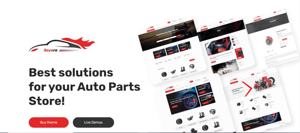 Sayara  12 Best Auto Dealer WordPress Themes For Vehicle Dealership & Service Owners Screenshot 9 min 1024x455