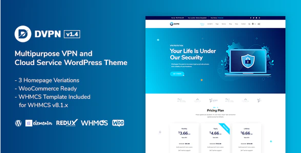 DVPN  7 Best Cloud Computing, Apps and Server WordPress Theme To Stake On In 2021 Screenshot 9