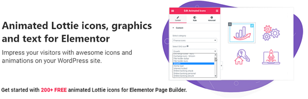 Animated SVG icons & Lottie animations for Elementor Sites  6 Most Recommended Free Elementor Plugin for Animation By Digital Creators in 2021 Untitled 1 1024x330