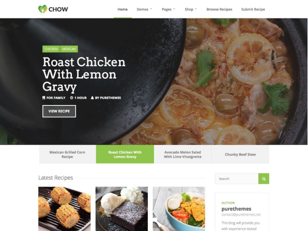 Chow  10+ Best Grocery and Food Store WordPress Themes For Farm Producers & Traders image 10