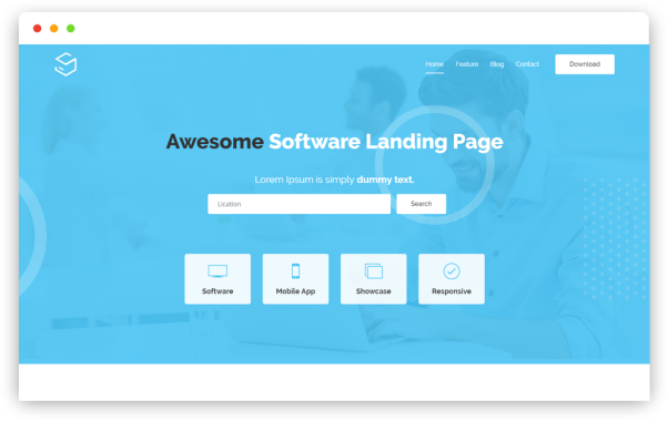 Free Software Landing Page HTML5 Template   Sofbox Classic   Iqonic Design  15+ Best Free Responsive Website Templates For Better Mobile User Experience image 2