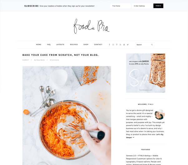 Foodie Pro  10+ Best Grocery and Food Store WordPress Themes For Farm Producers & Traders image 8