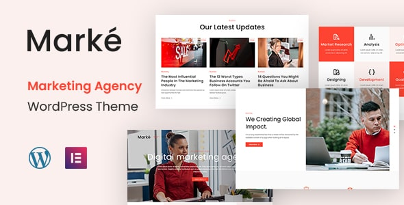 Best Free WordPress Theme for Marketing Agency | Marke | Iqonic Design