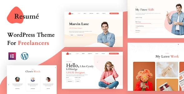 Best Free WordPress Theme for Freelancers | Resume | Iqonic Design